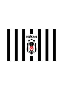 Beşiktaş Gestreept vlag 100*150