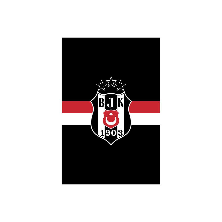 Beşiktaş Streifenfahne 600*900