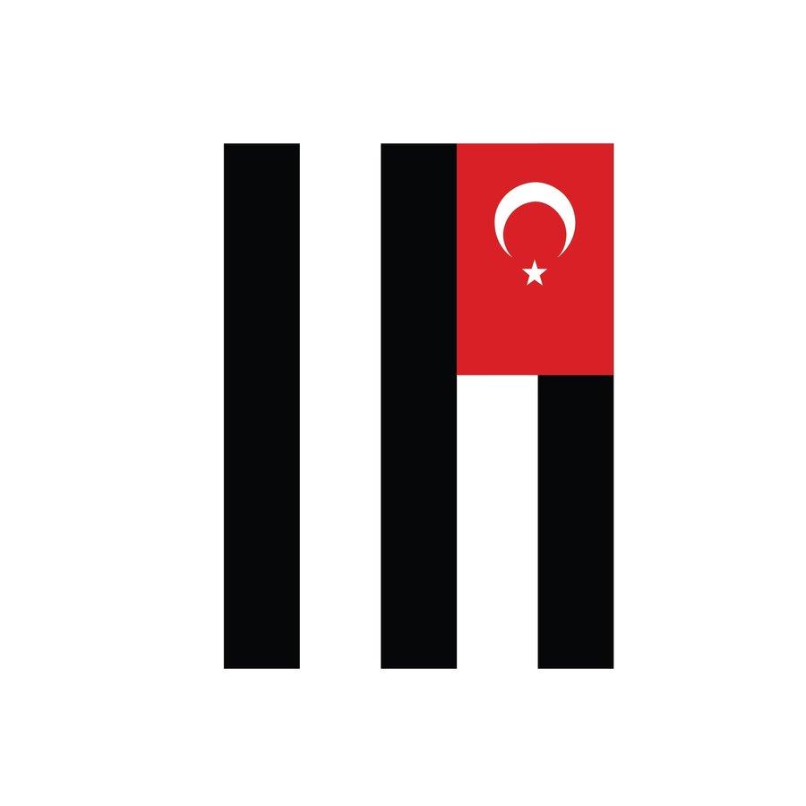 Beşiktaş Gestreepte vlag 200*300