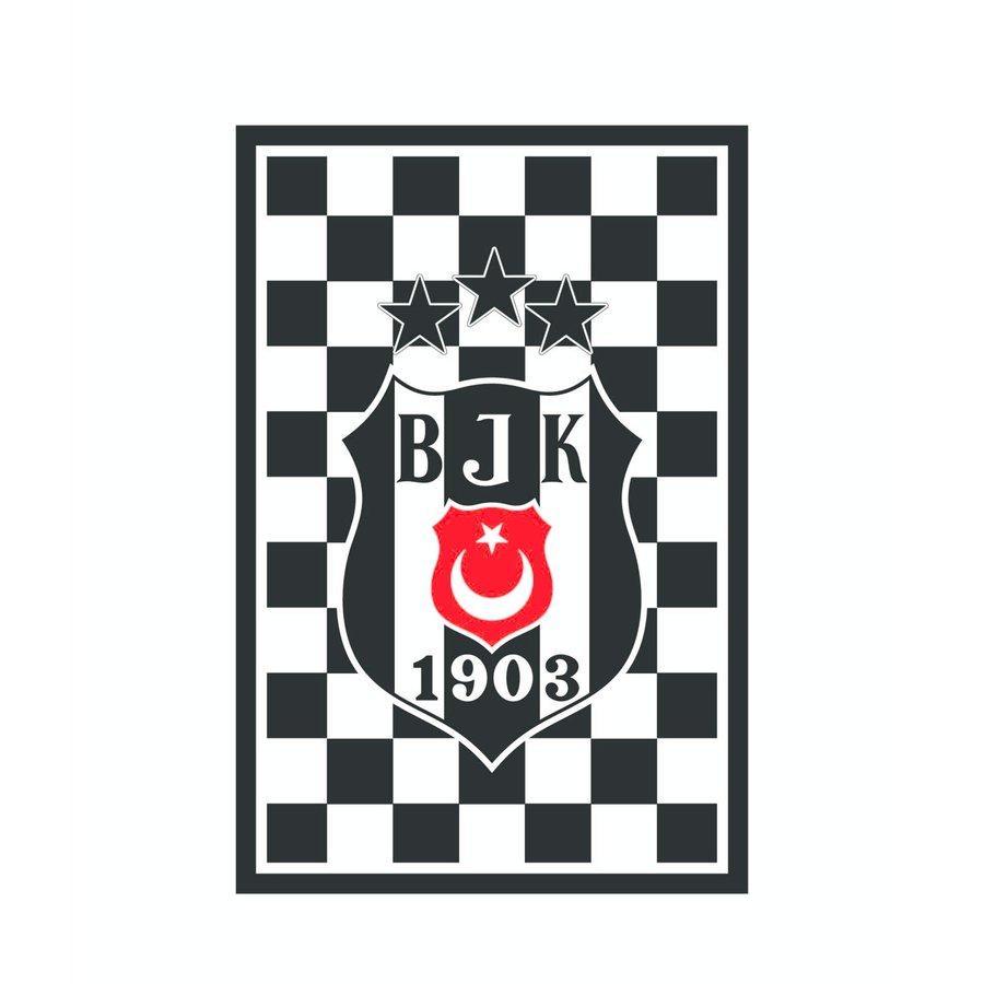Beşiktaş Geruit 3 sterrenvlag 200*300