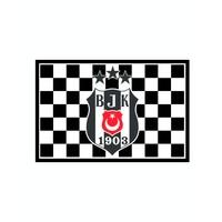 Beşiktaş Karierte 3 Sternefahne 70*105