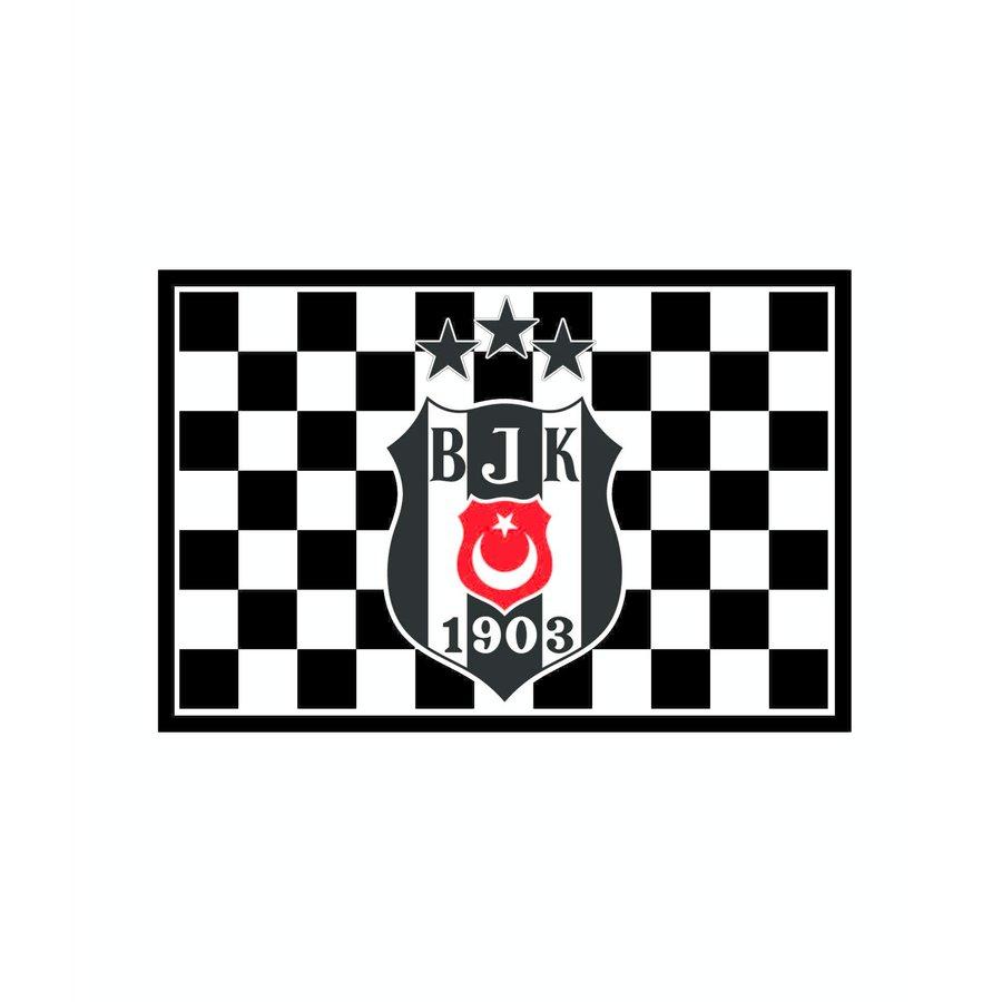 Beşiktaş Checked 3 stars Flag 70*105