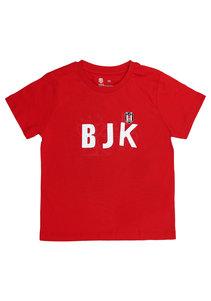 Beşiktaş T-Shirt Kinder Y21-131 Rot