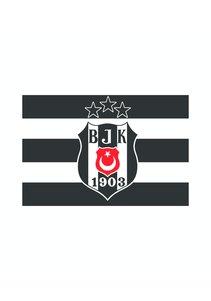 Beşiktaş Logo vlag 3 sterren 70*105