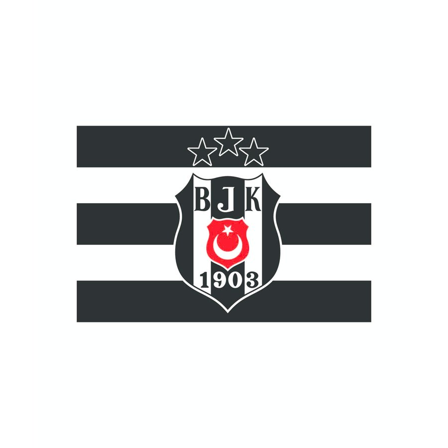 Beşiktaş Logo Fahne 3 Sterne 70*105