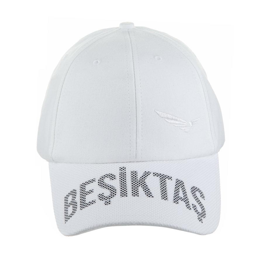 Beşiktaş Basic Adler Logo Kappe 02 Weiss