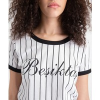 Beşiktaş Modern College T-Shirt Damen 8919121 Weiss
