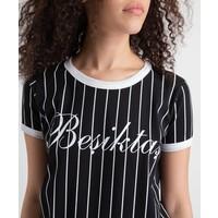 Beşiktaş Modern College T-Shirt Damen 8919121 Schwarz