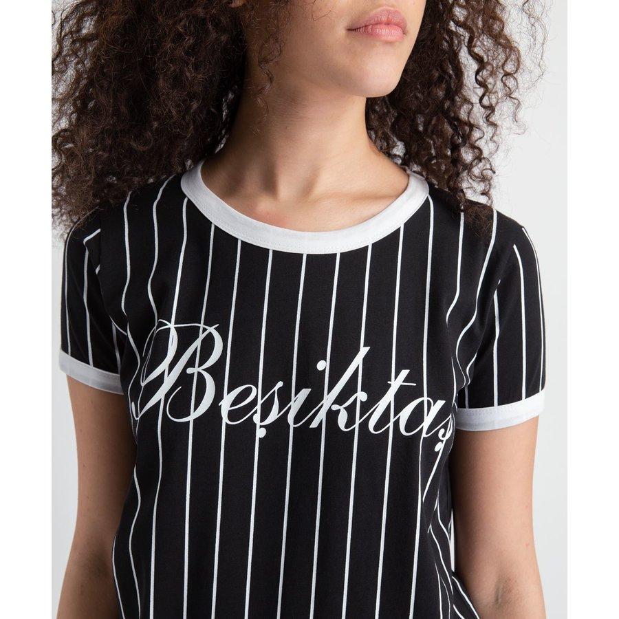 Beşiktaş Modern College T-Shirt Pour Femmes 8919121 Noir