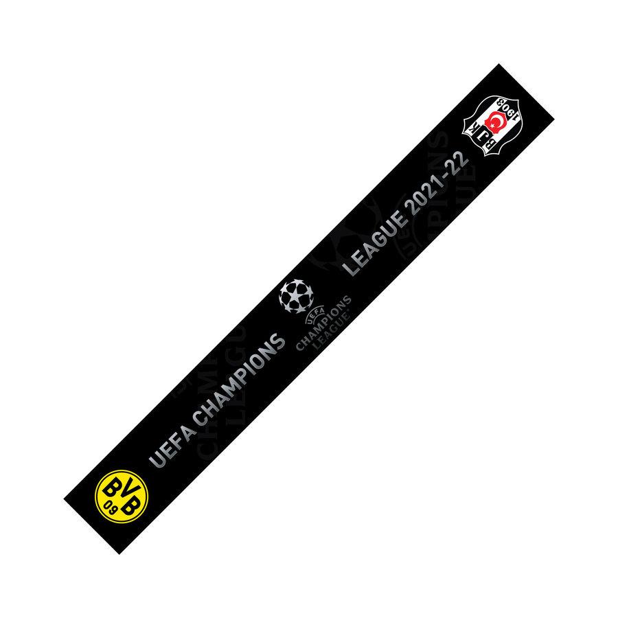 Beşiktaş 2021-2022 Dortmund Game Scarf Satin