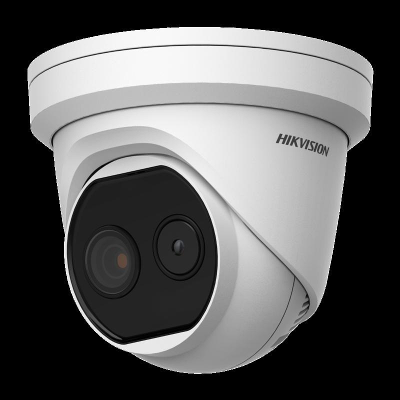 HikVision HIKVISION DS-2TD1217-2-V1 - Thermische & Optische Netwerk Turret Camera