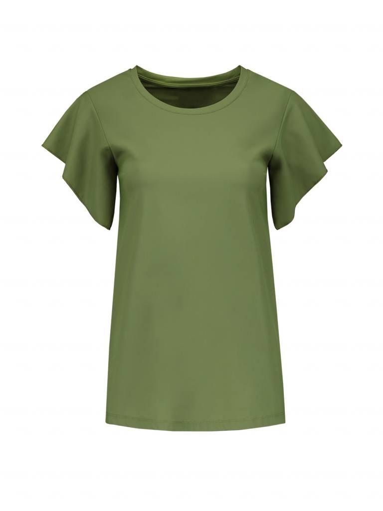 NIKKIE Groen Nikkie Suzy Frill Shirt