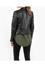 Tigha Zwart Tigha Talia Leather Jack