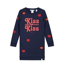 NIK & NIK Blauw Nik&Nik Babe Kiss Sweatdress