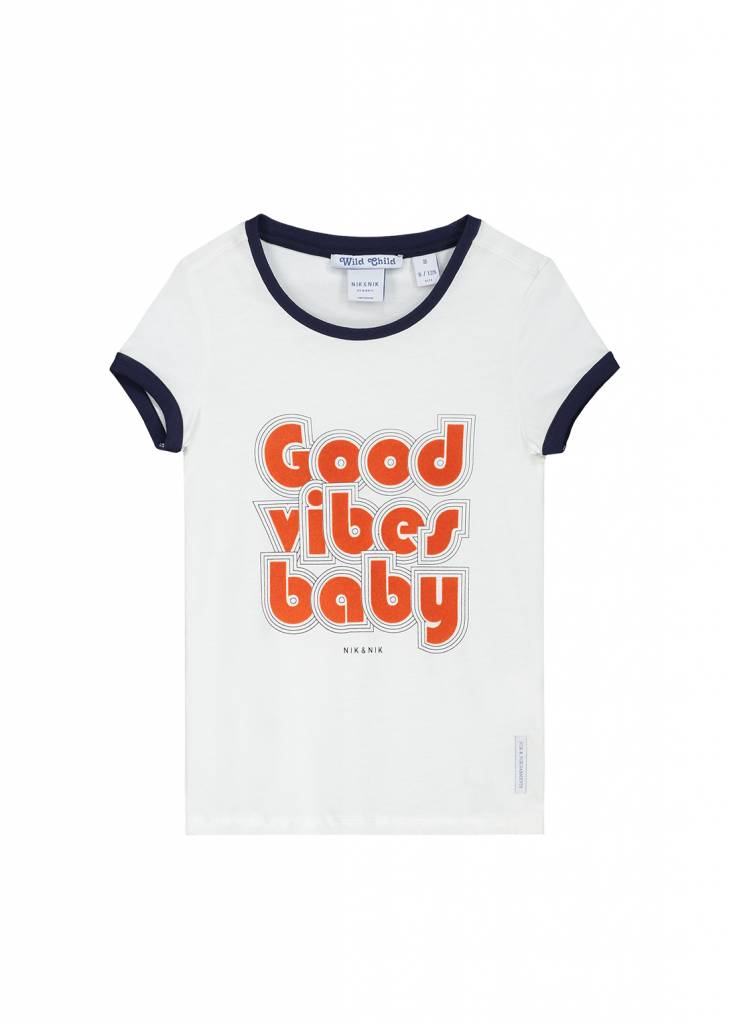 NIK & NIK Wit Nik&Nik Piper T-shirt