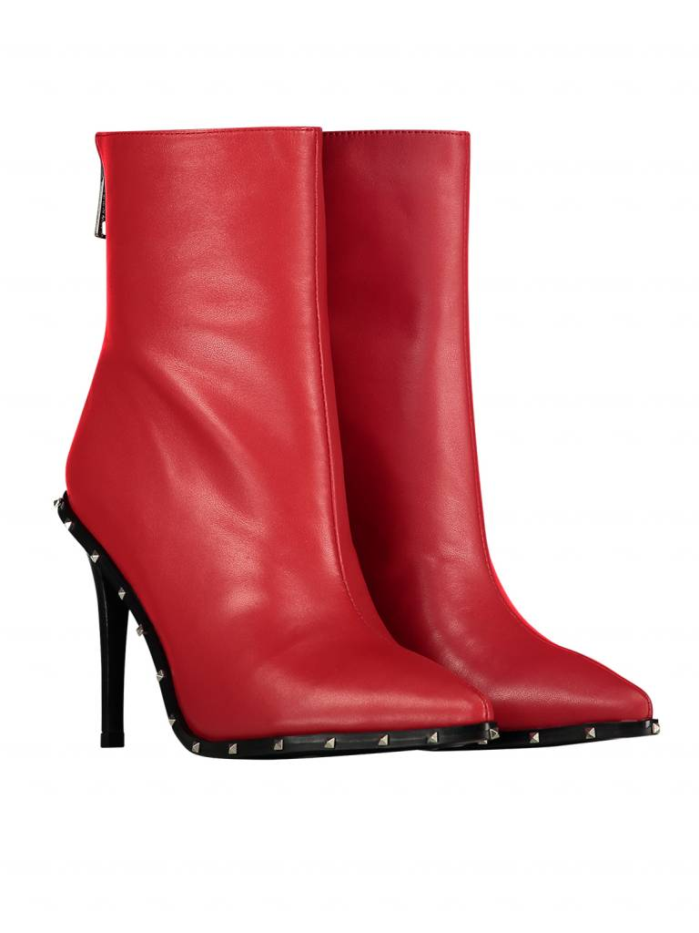 NIKKIE Rood Nikkie Studs Ankle Boots