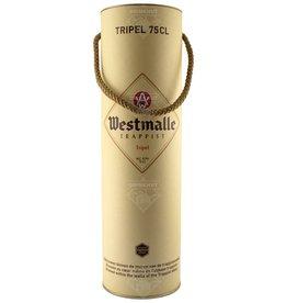 Westmalle Tripel 75cl in kado koker