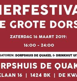 Festival Kaarten 16 maarth De Grote Dorst