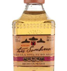 Tres Sombreros Tequila Reposado 100% Agave 0,70 Liter