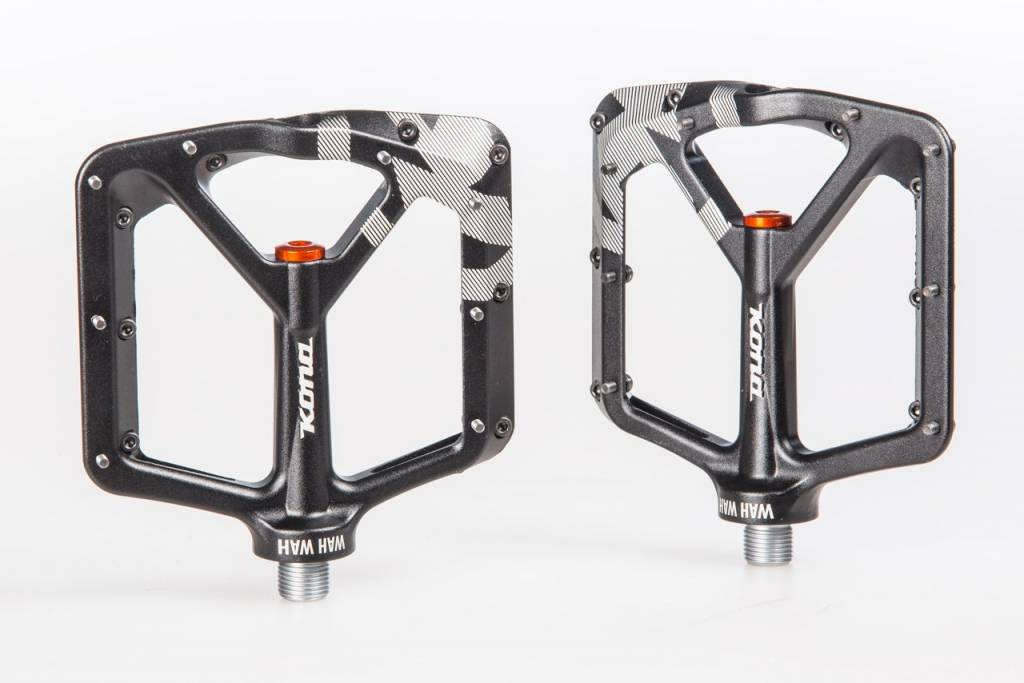 Kona Wah Wah 2 Alloy Pedals - Black Anodized
