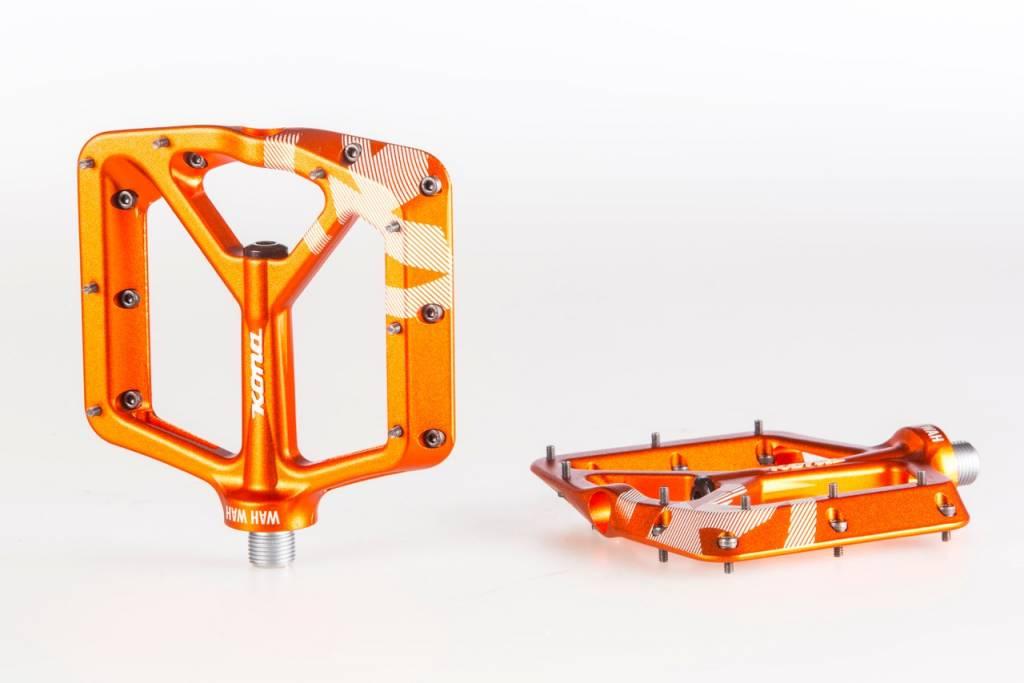 Kona Wah Wah 2 Alloy Pedals - Orange Anodized
