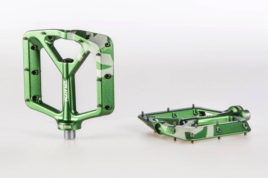 Kona Wah Wah 2 Alloy Pedals - Dark Green Anodized