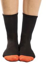 Kona Sock Woman 7 cuff Black/Orange L-XL