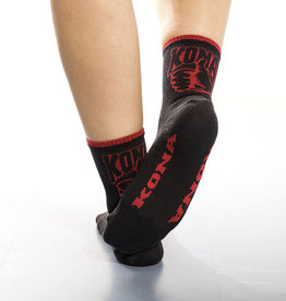Kona Sock Woman 5 cuff Black/Red L-XL