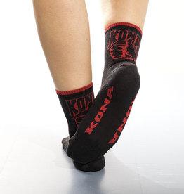 Kona Sock Woman 5 cuff Black/Red S-M