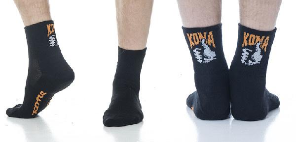 Kona Kona Short Socks Blk S-M