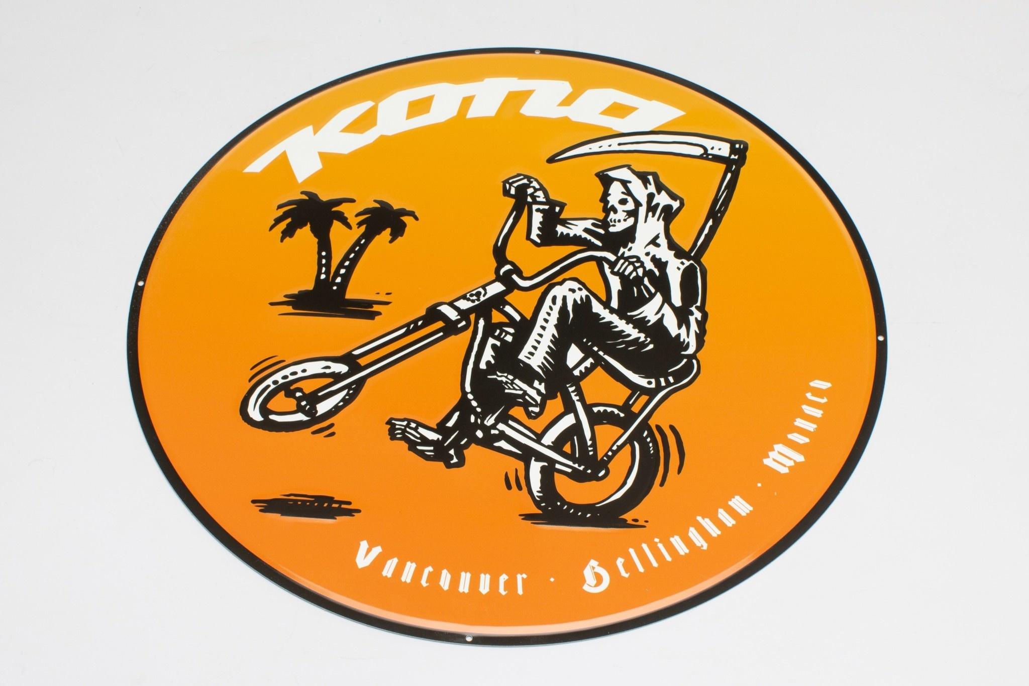 Kona Reaper Metal Sign 18 inch diameter