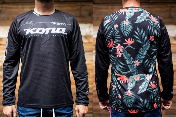 Kona Custom Jersey Long Sleeve Floral Small