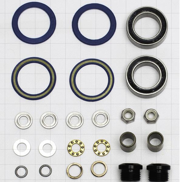 Kona Kona Wah Wah 2 Alloy Pedal rebuild inc. bearings, spacers and spindl cap