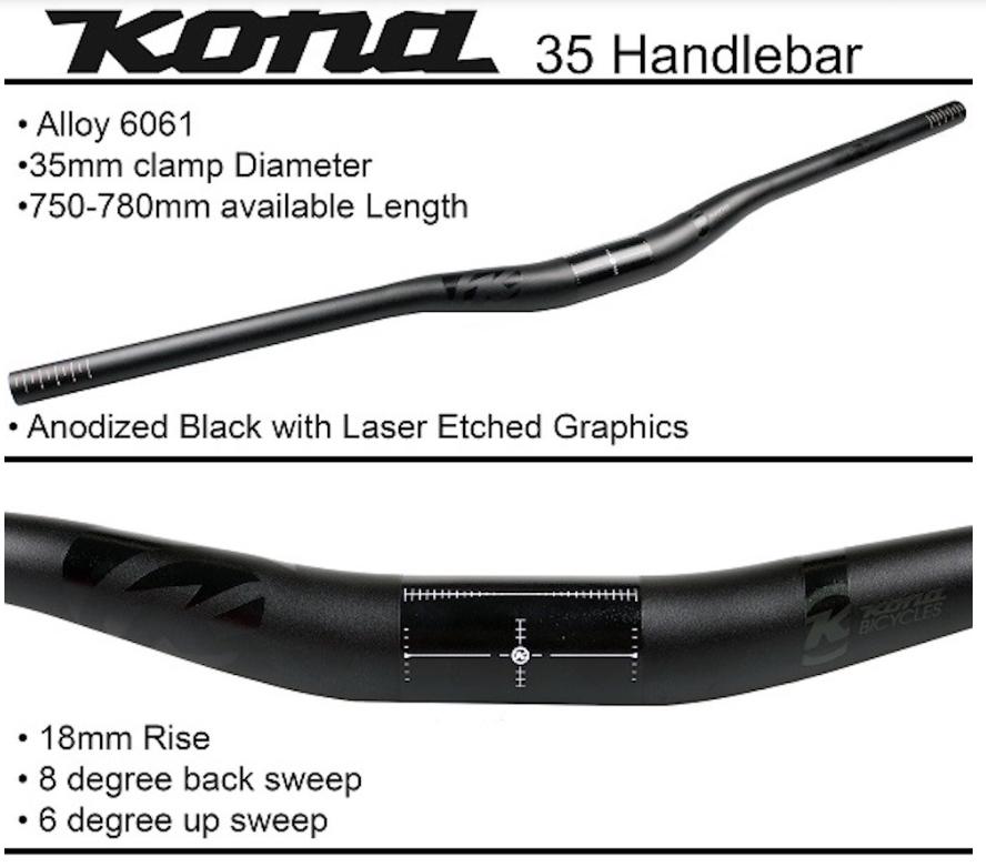 Kona Handlebar 35mm x 780mm