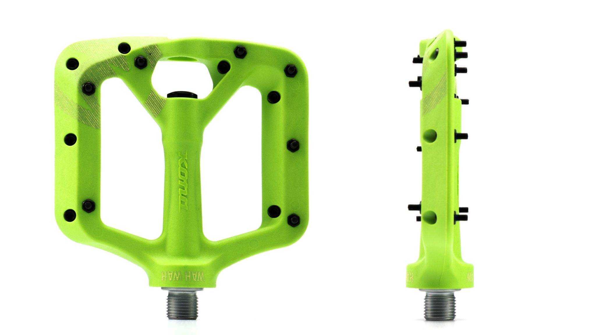 Kona Wah Wah Small Slime Green Composite Pedals