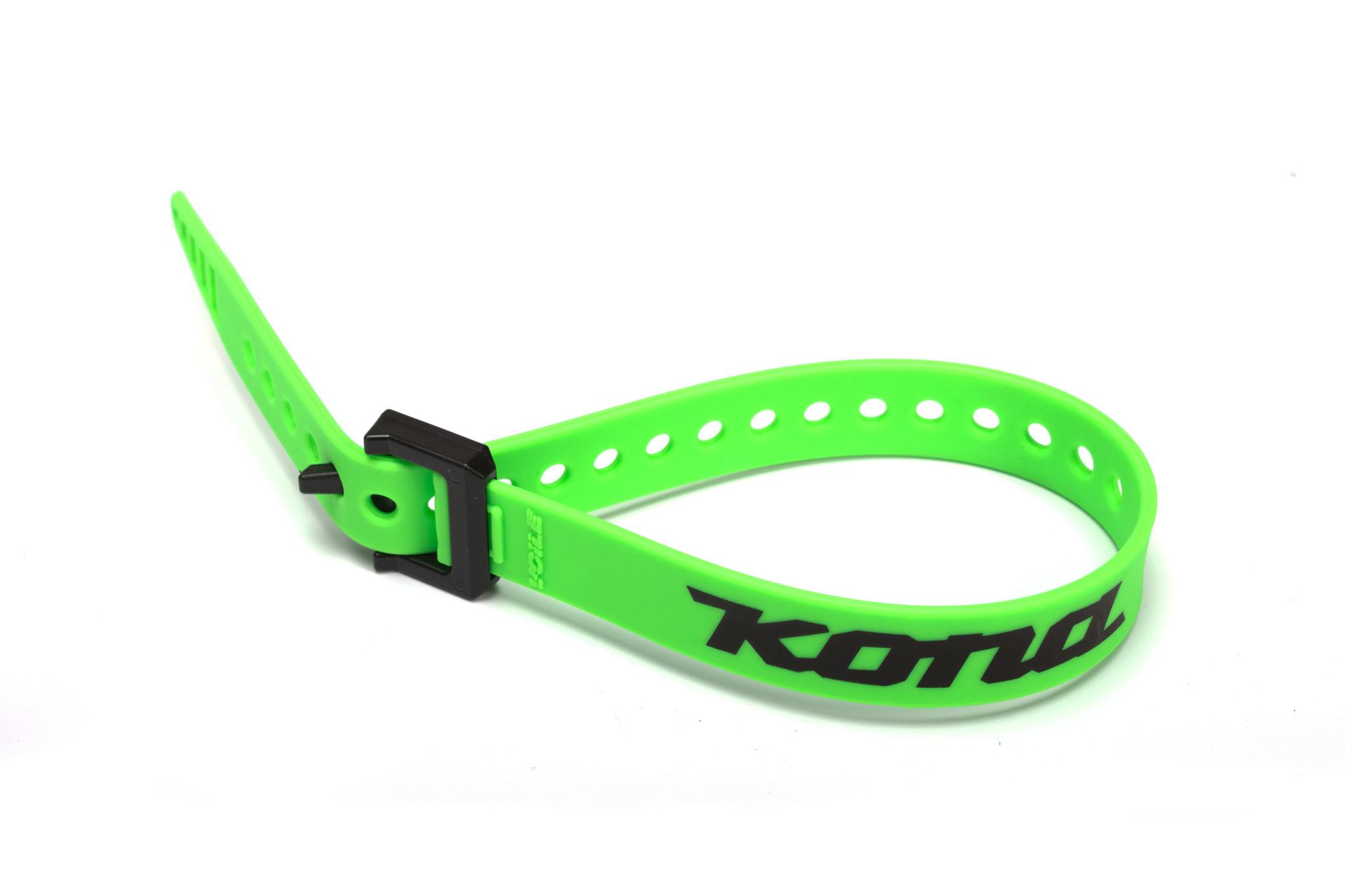 """Kona 15"""" Strap, Green w/nylon buckle and Kona Logo"""