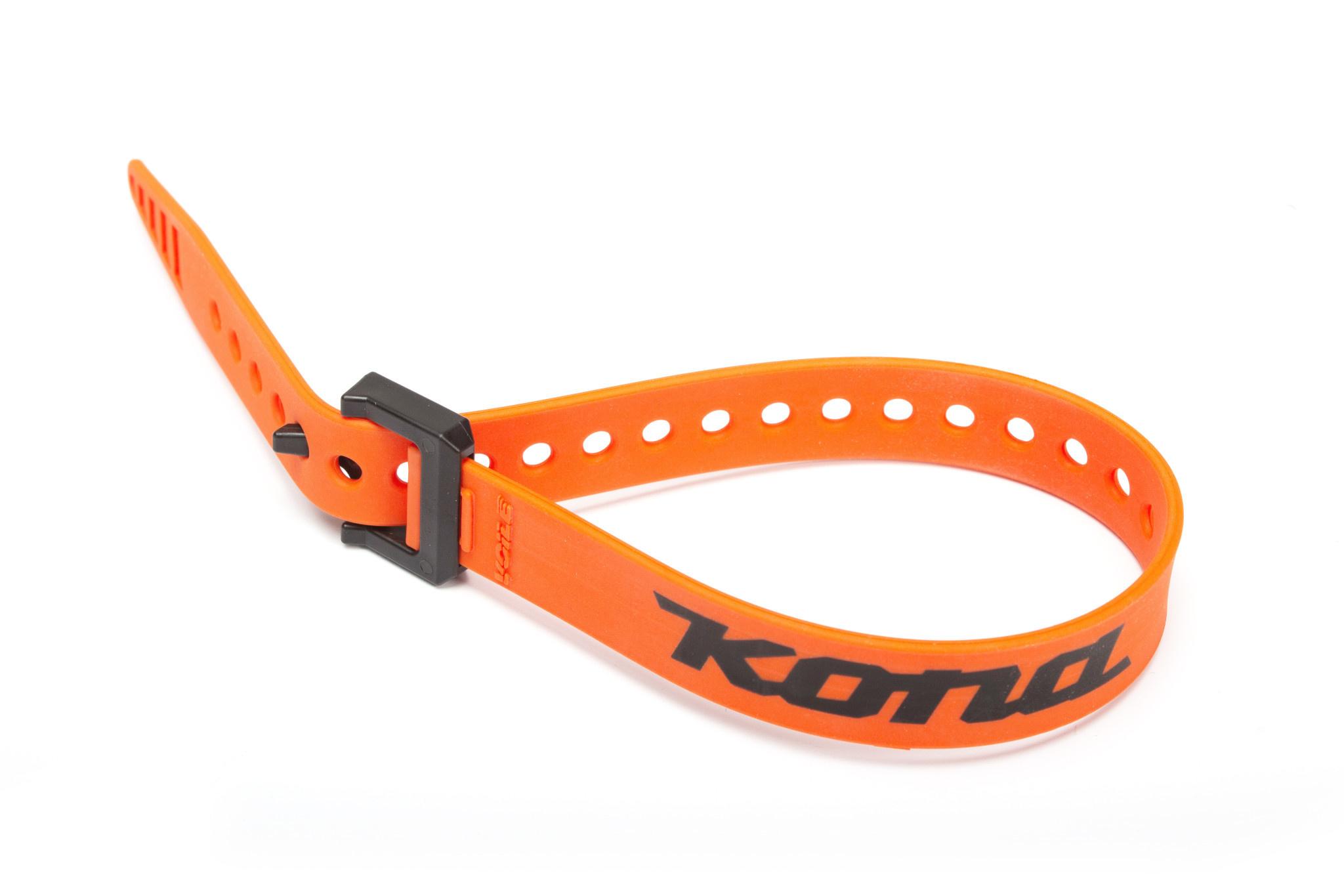 """Kona 20"""" Strap, Orange w/nylon buckle and Kona Logo"""