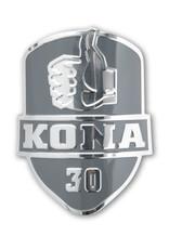Kona Birthday Head Badge Black Mirror Finish
