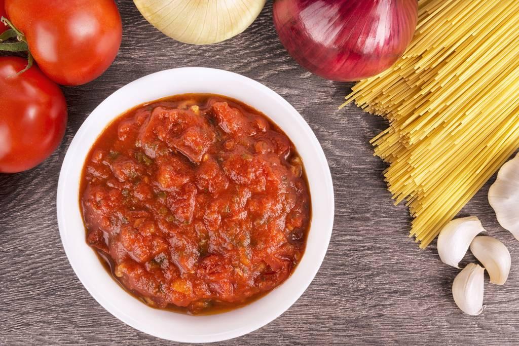 Vegetarische spaghettisaus