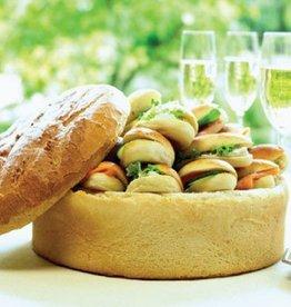 Verrassingsbrood met mini-sandwiches, luxe beleg