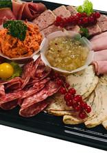 Vleeswarenschotel met garnituur en brood