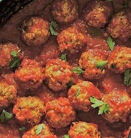 Vegetarische balletjes in tomatensaus