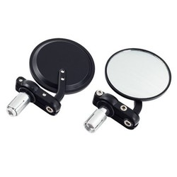 "Pair of Black 3"" Bar End Enduro Mirrors"