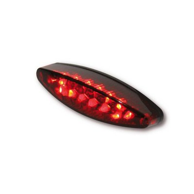 Highsider Red Oval Motor LED Tail / Brake / Plate Light