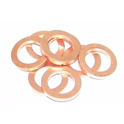Koperen ringen voor banjo en remleiding