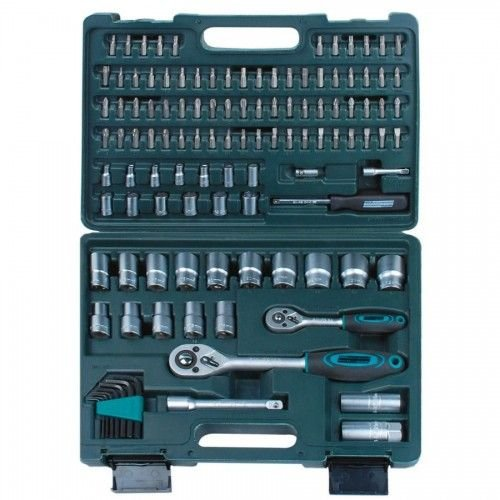 Mannesmann MANNESMANN SOCKET SET 115 PIECES 1/4+1/2 ""