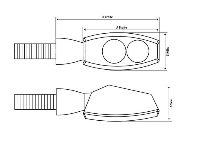 Shin Yo LED Knipperlichten Fineline Smoke / Dag rij verlichting