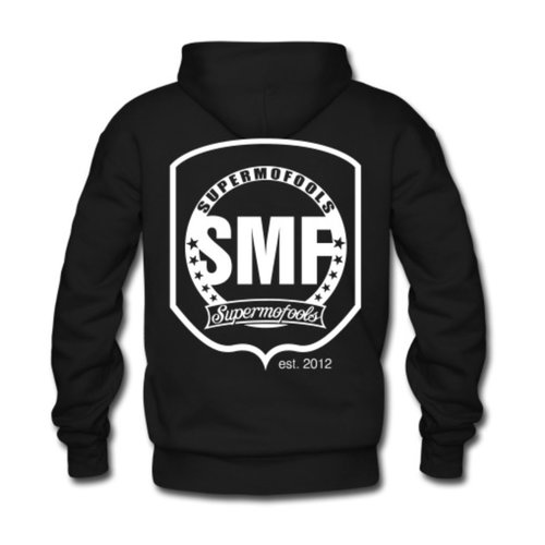 """SMF Hoodie """"Sleeves"""" Black"""