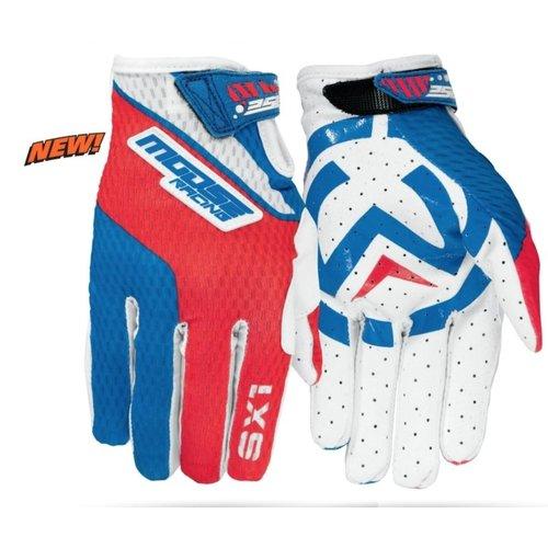 Moose Racing SX1 S7 Red/White/Blue Motorcross Handschoen