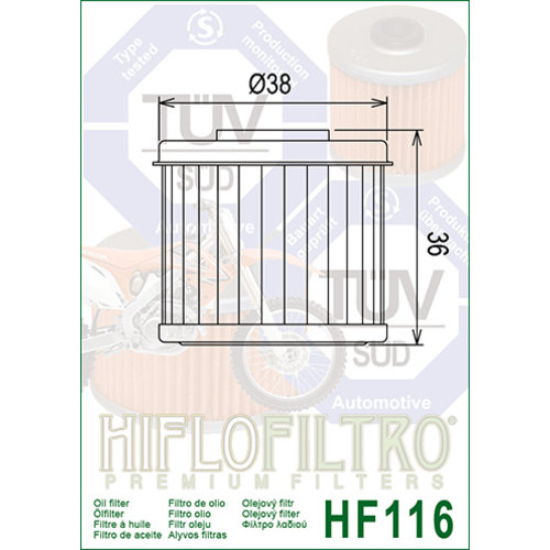 Hiflo HF116 Oliefilter